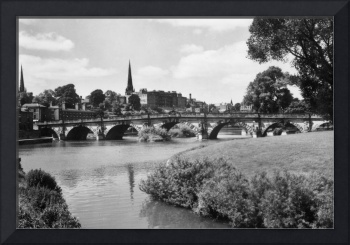 HUK0407 English Bridge & River, Shrewbury. circa19