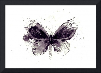 Forgotten - Grey Butterfly - Art - Digital Print