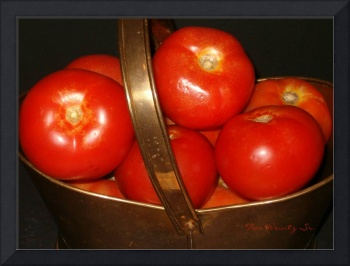 Tomatoes in a Copper Basket