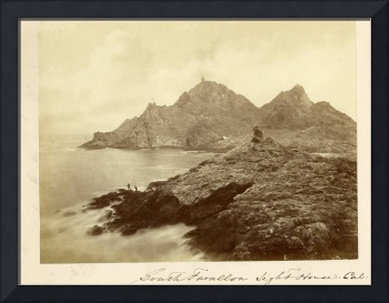 South Farallon Lighthouse & Landing by Muybridge