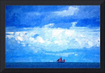 Cloudscape and Red Sails
