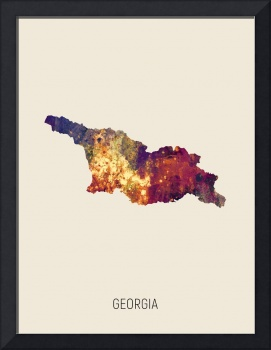 Georgia Watercolor Map