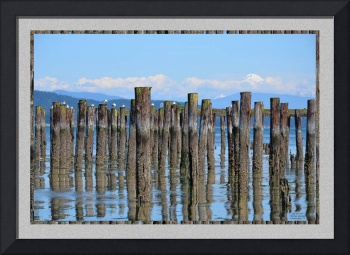 OLD DOCK LOW TIDE ILLUSIONS AND MOUNT BAKER