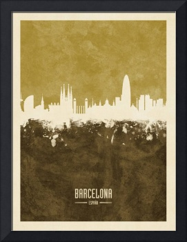 Barcelona Spain Skyline