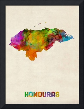 Honduras Watercolor Map