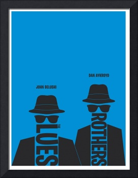 Blues Brothers minimalist movie poster
