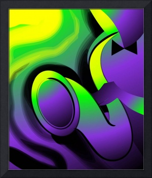 Digital painting of man playing a saxophone