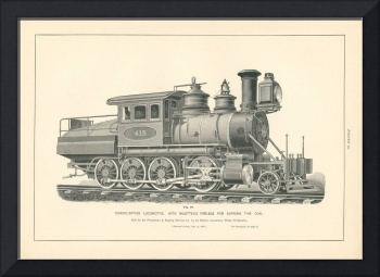 Fig.70 - Consolidation Locomotive Engraving