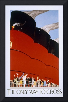 RMS Queen Mary Vintage Poster Advertisement
