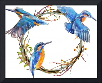 KingFishers Framed Art Print