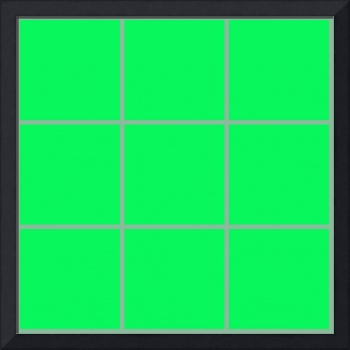 Green Window 002 Canvas Contemporary Modern