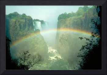Rainbow at Victoria Falls in Zimbabwe Africa