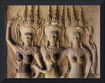 Angkor Wat Dancing Women Pediment, Cambodia