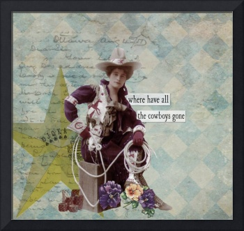Vintage Cowgirl Altered Art Collage