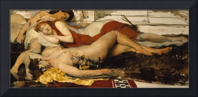 Exhausted Maenides, c.1873-74 (oil on canvas)