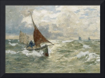 Andreas Dirks - Fisherman on a stormy sea