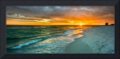panoramic orange sunset art print
