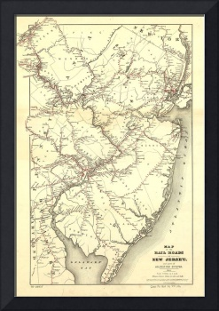 Vintage New Jersey Railroad Map (1869)