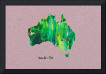 Artistic Map of Australia