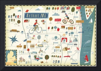 Illustrated Map of Detroit by Nate Padavick