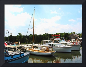 New Jersey - Line Of Docked Boats