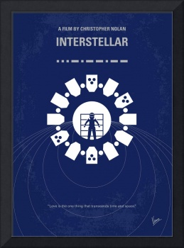 No532 My Interstellar minimal movie poster