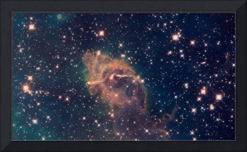 Carina Nebula Composite Visible & Infrared Light