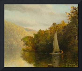 Sailboat on river