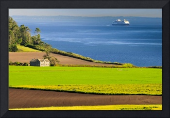 Ferry House & Cruise Ship at Ebey's Landing