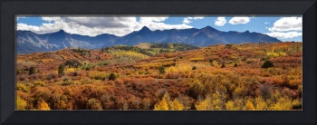 Colorado Autumn Panorama Colorful Bliss
