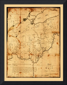 Map of the State of Ohio (1805)