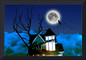 Haunted House Picture - Scary Halloween Picture