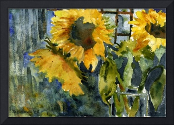 Sunflowers and a Vase