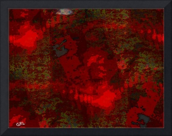 COLOR OF RED CONTEMPORARY DIGITAL ART