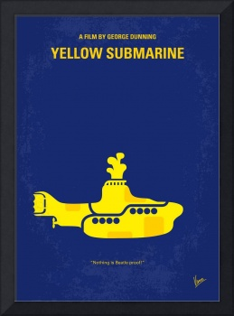 No257 My YELLOW SUBMARINE minimal movie poster