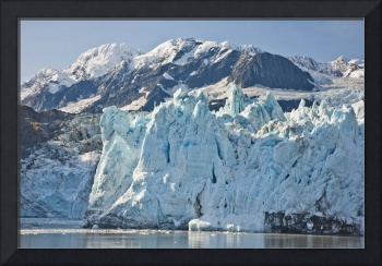 The face of Surprise Glacier and Chugach Mountains