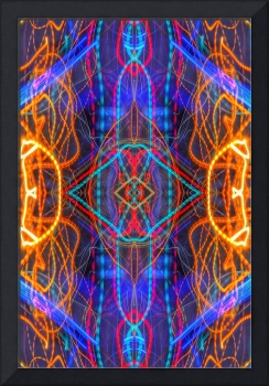 ABSTRACT LIGHT STREAKS #261 — Electric Mandala