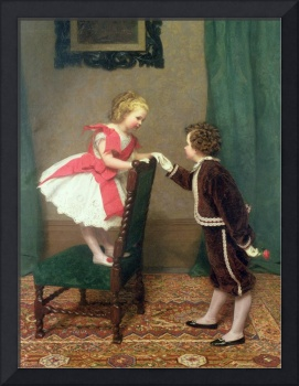 Miss Lily's First Flirtation, 1867 (oil on canvas)