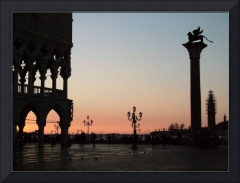 Silhouette of the Lion of Venice