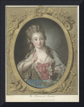 Young woman with a dog, Louis Marin Bonnet, 1777
