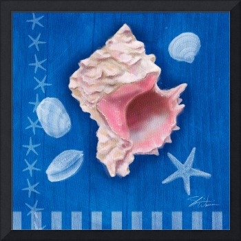 Seashells on Blue III