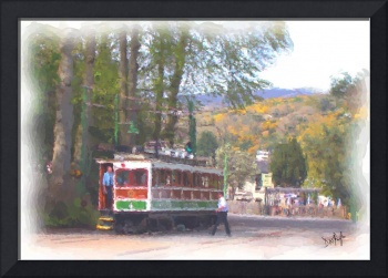 Laxey Mountain Tram Watercolour