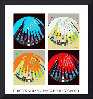 Circles and Squares Abstract Riccoboni Poster