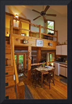 Inside Cabin at Inn at Cedar Falls by Jim Crotty F