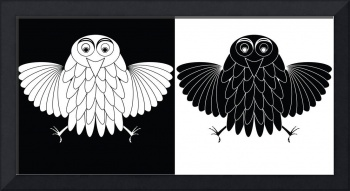 stylized owl cartoon
