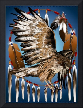 Flying Hawk Dreamcatcher
