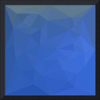 Deep Sky Blue Abstract Low Polygon Background