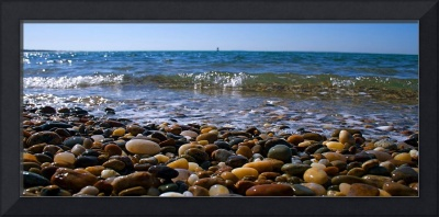 Cape Cod Beach Rocks Pano