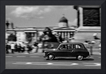 Trafalgar Square and the Black Cab, London
