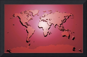 World Map in Red